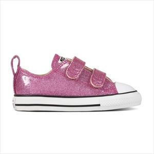 Converse All Star Velcro glitter size 9